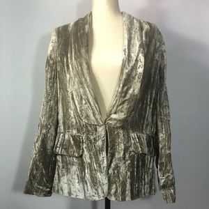 ASOS | Crushed Velvet Smoking Jacket Champagne